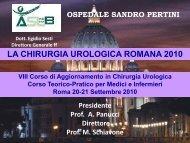 LA CHIRURGIA UROLOGICA ROMANA 2010 - medicina e chirurgia