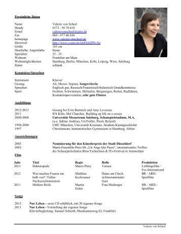 Vita (PDF) - Valerie von Scheel