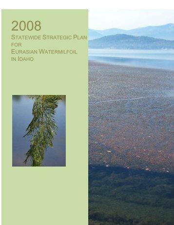 2008 Statewide Strategic Plan for Eurasian Watermilfoil in Idaho