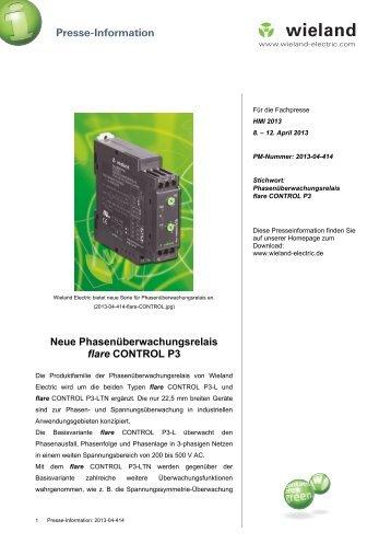 PR-Text Neue Phasenüberwachungsrelais flare ... - Wieland Electric