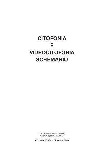 Schemi di installazione c for Videocitofono urmet domus schema