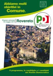 Scarica il pieghevole - Partito Democratico del Trentino