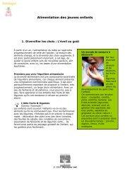 Alimentation des jeunes enfants - 10 par jour