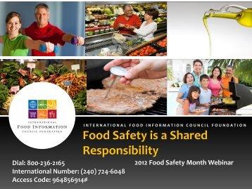 copy of the Sept. 6th webcast slides (PDF) - International Food ...
