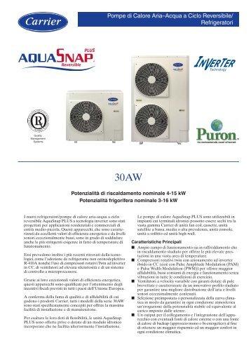 minichiller a pompa di calore carrier 30 AW - Pontani Service