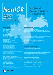 NordOER 07 02 - Zeitschrift für Öffentliches Recht in ...