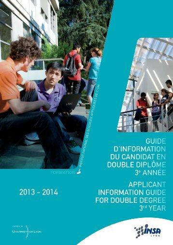 Propositions pour l'affichage des cours en anglais - INSA de Lyon