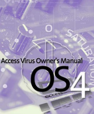 Access Virus User Manual - SoundProgramming.Net