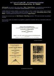 du 1er juin au 31 juillet 1991 – Art contemporain et ... - Daniel paradis