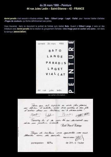 du 26 mars 1988 – Peinture 44 rue Jules Ledin ... - Daniel paradis