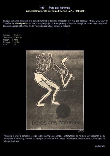 1971 – frère des hommes Association locale de ... - Daniel paradis