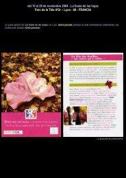 del 10 al 28 de noviembre 2004 - La fiesta de las ... - Daniel paradis