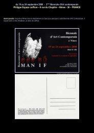 du 19 au 24 septembre 2000 - 2ème Biennale d'Art ... - Daniel paradis