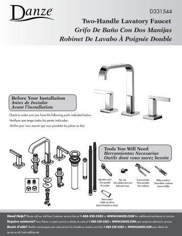 Two-Handle Lavatory Faucet Grifo De Baño Con Dos Manijas ...