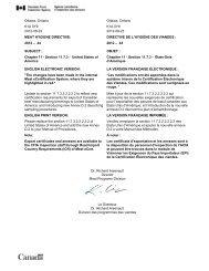 2012 – 44 DIRECTIVE DE L'HYGI - Agence canadienne d'inspection ...