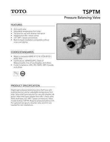 Pressure Balancing Valve