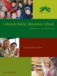Admission Viewbook - Colorado Rocky Mountain School