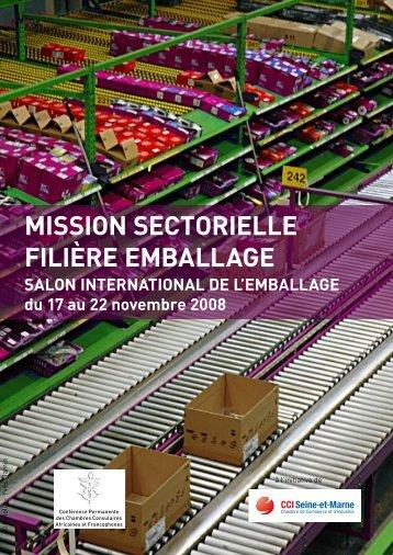 Mission sectorielle filière eMballage - IZF
