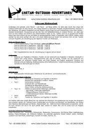 Infos zum Kletterurlaub - Cretan-Outdoor-Adventure