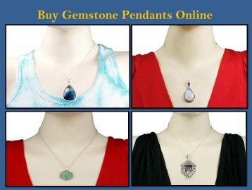 Buy Gemstone Pendants Online
