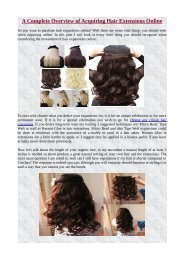 A Complete Overview of Acquiring Hair Extensions Online