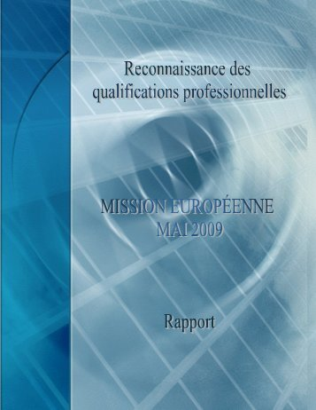 Rapport de mission - Office des professions du Québec