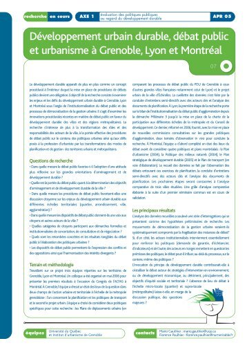 Mise en page 1 - Politiques territoriales et développement durable