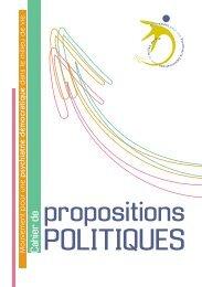 Cahiers de Propositions politiques