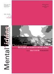 Mental'Idées n°12 - janvier 2008 - Ligue Bruxelloise Francophone ...