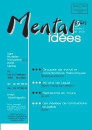 Mental idées . N° 1 . Septembre 2003 - Ligue Bruxelloise ...
