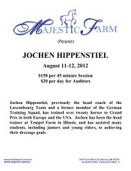 Jochen Hippenstiel August 11-12, 2012 - Majestic Farm