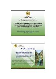 Pregled stanja u oblasti obnovljivih izvora energije i mogućnost ...