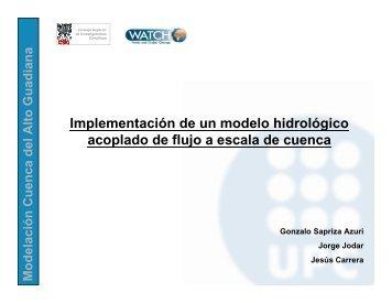 Implementación de un modelo hidrológico acoplado de flujo a ...