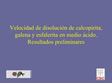 Velocidad de disolución de calcopirita, galena y esfalerita en medio ...