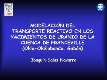 Modelación del transporte reactivo en los yacimientos de ... - UPC