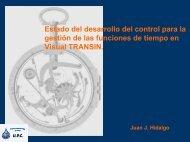 Estado de desarrollo del control para la gestión de funciones de ...