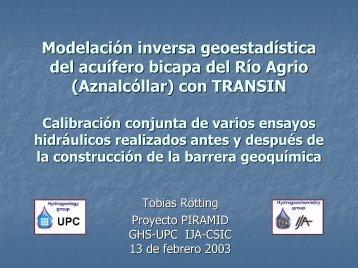 Modelación inversa geoestadística del acuífero bicapa del ... - UPC