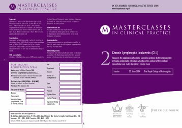 MASTERCLASSES - UK Key Advances in Clinical Practice Series