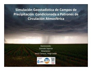 Simulación Geostadística de Campos de Precipitación ...