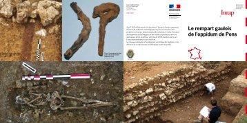 Le rempart gaulois de l'oppidum de Pons - Inrap