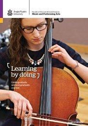 Music and Performing Arts at Anglia Ruskin 2015-16
