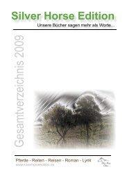 Gesamtverzeichnis 2009 - Silver Horse Edition