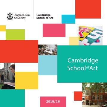 Cambridge School of Art brochure 2015-16