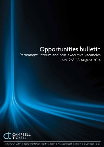CT Opportunities Bulletin 263 180814