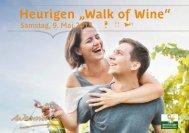 Walk of Wine Einladung