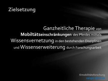 Zielsetzung Ganzheitliche Therapie von