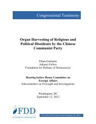 Organ Harvesting of Religious and Political Dissidents by the ...