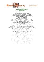An die Nachgeborenen - Bertold Brecht