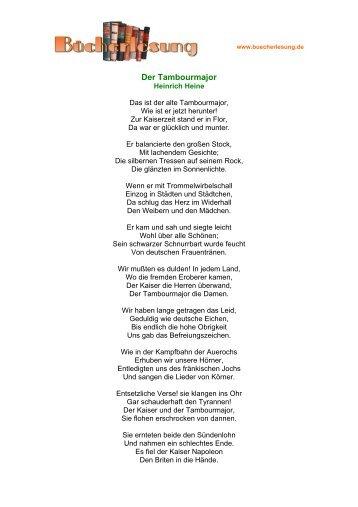 Der Tambourmajor - Heinrich Heine