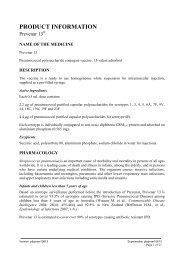 DRAFT PRODUCT INFORMATION - Pfizer